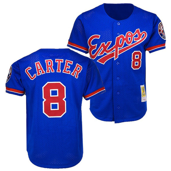 Men's Montreal Expos Gary Carter Mitchell & Ness Blue Cooperstown Authentic Batting Practice Jersey - Bleacher Bum Collectibles, Toronto Blue Jays, NHL , MLB, Toronto Maple Leafs, Hat, Cap, Jersey, Hoodie, T Shirt, NFL, NBA, Toronto Raptors
