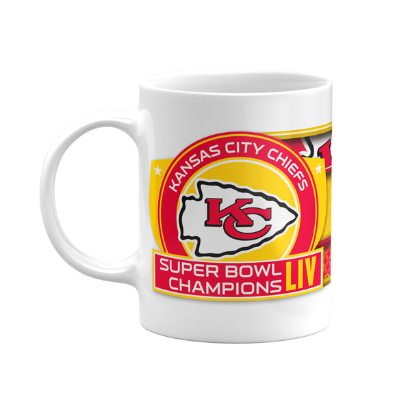Kansas City Chiefs 2020 Super Bowl LIV Champions NFL Football 11oz C-Handle Coffee Mug - Bleacher Bum Collectibles, Toronto Blue Jays, NHL , MLB, Toronto Maple Leafs, Hat, Cap, Jersey, Hoodie, T Shirt, NFL, NBA, Toronto Raptors