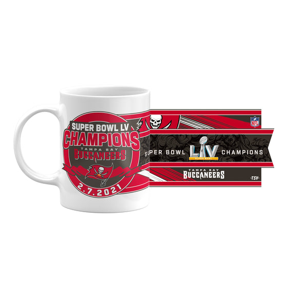 Tampa Bay Buccaneers 2021 Super Bowl LV Champions NFL Football 11oz C-Handle Coffee Mug
