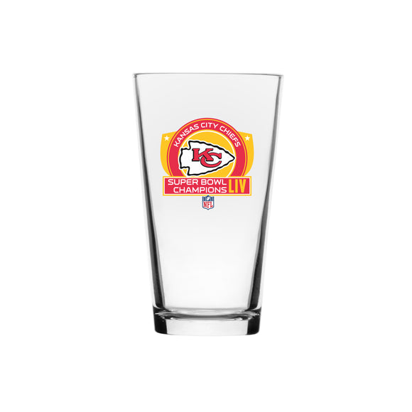 Kansas City Chiefs 2020 Super Bowl LIV Champions NFL Football 16oz Mixing Glass - Bleacher Bum Collectibles, Toronto Blue Jays, NHL , MLB, Toronto Maple Leafs, Hat, Cap, Jersey, Hoodie, T Shirt, NFL, NBA, Toronto Raptors