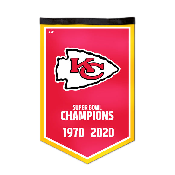 Kansas City Chiefs 2020 Super Bowl LIV Champions NFL Football 16x18 Victory Banner - Bleacher Bum Collectibles, Toronto Blue Jays, NHL , MLB, Toronto Maple Leafs, Hat, Cap, Jersey, Hoodie, T Shirt, NFL, NBA, Toronto Raptors