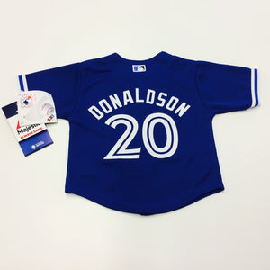 Infant Toronto Blue Jays Josh Donaldson Majestic Alternate Royal Official Cool Base Jersey - Bleacher Bum Collectibles, Toronto Blue Jays, NHL , MLB, Toronto Maple Leafs, Hat, Cap, Jersey, Hoodie, T Shirt, NFL, NBA, Toronto Raptors