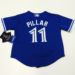 Child Toronto Blue Jays Kevin Pillar Majestic Alternate Royal Official Cool Base Player Jersey - Bleacher Bum Collectibles, Toronto Blue Jays, NHL , MLB, Toronto Maple Leafs, Hat, Cap, Jersey, Hoodie, T Shirt, NFL, NBA, Toronto Raptors