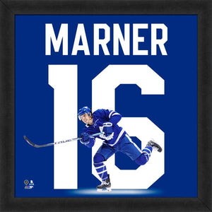 "Toronto Maple Leafs Mitch Marner 13"" x 13"" Uniframe Front Frame NHL Hockey - Bleacher Bum Collectibles, Toronto Blue Jays, NHL , MLB, Toronto Maple Leafs, Hat, Cap, Jersey, Hoodie, T Shirt, NFL, NBA, Toronto Raptors"