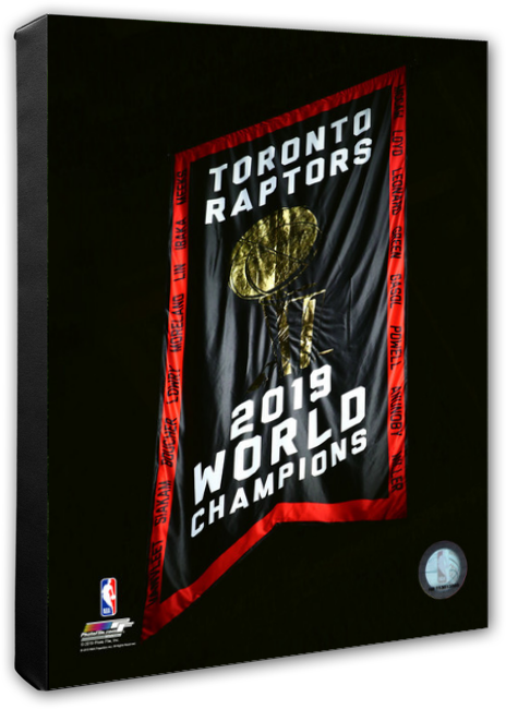 Toronto Raptors Opening Night Banner Raising Night Stretched Canvas - Multiple Pose