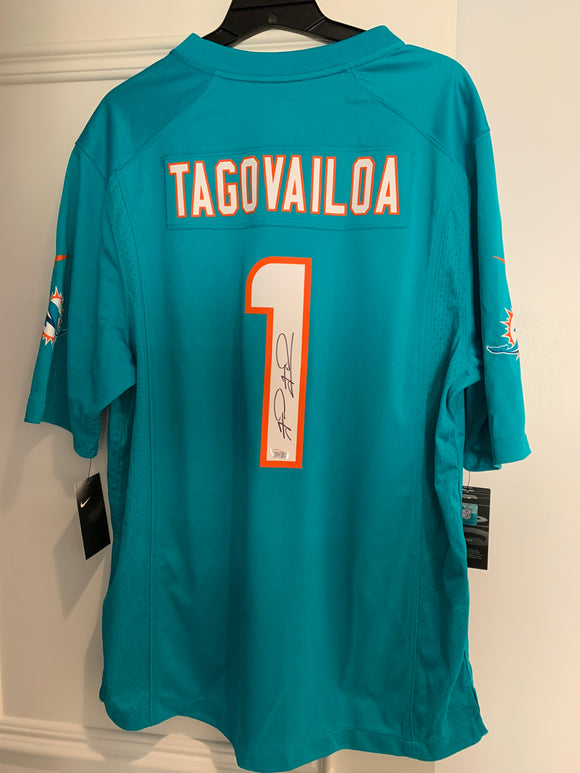 Tua Tagovailoa Miami Dolphins Autographed Game Nike Jersey NFL Football with Hologram