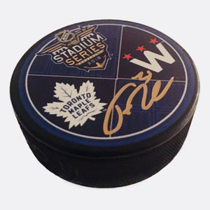 Frederik Andersen Toronto Maple Leafs Autographed 2018 Stadium Series Hockey Puck - Bleacher Bum Collectibles, Toronto Blue Jays, NHL , MLB, Toronto Maple Leafs, Hat, Cap, Jersey, Hoodie, T Shirt, NFL, NBA, Toronto Raptors