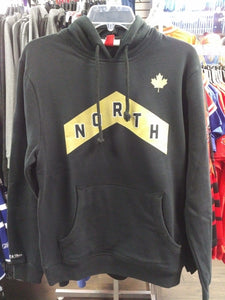 a60d3d78bdd Men s Toronto Raptors Mitchell   Ness Black   Gold City Edition NORTH  Hooded Sweatshirt - Bleacher