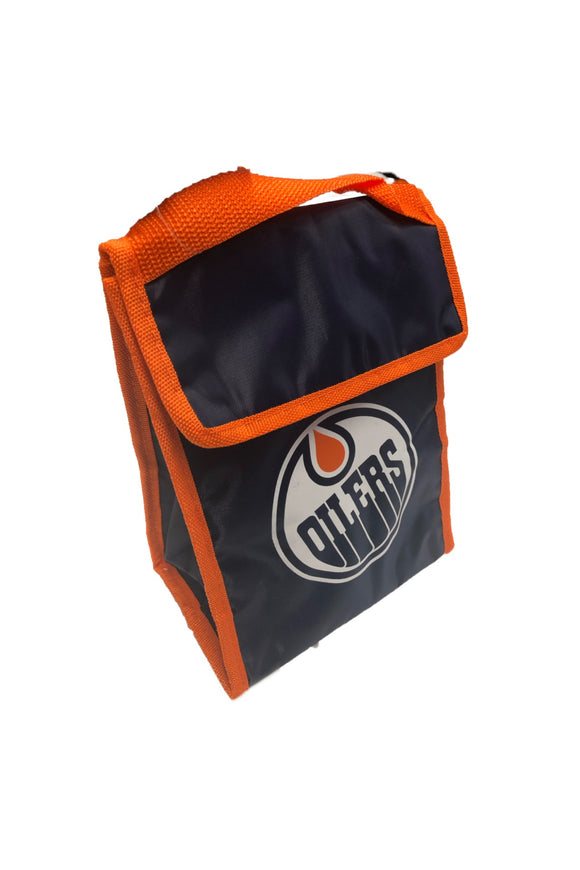 Edmonton Oilers Insulated Hot & Cold Gradient Lunch Bag By Forever Collectibles - Bleacher Bum Collectibles, Toronto Blue Jays, NHL , MLB, Toronto Maple Leafs, Hat, Cap, Jersey, Hoodie, T Shirt, NFL, NBA, Toronto Raptors
