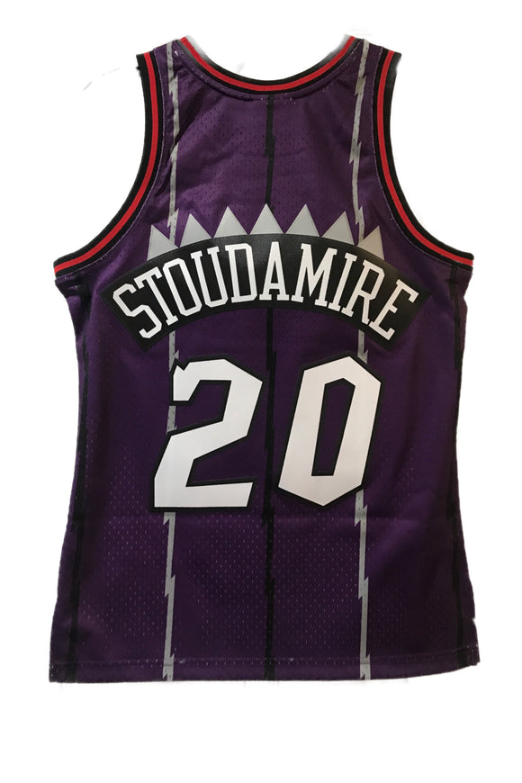 Men's Toronto Raptors Damon Stoudamire Mitchell & Ness Purple 1995-96 Hardwood Classics Swingman Jersey