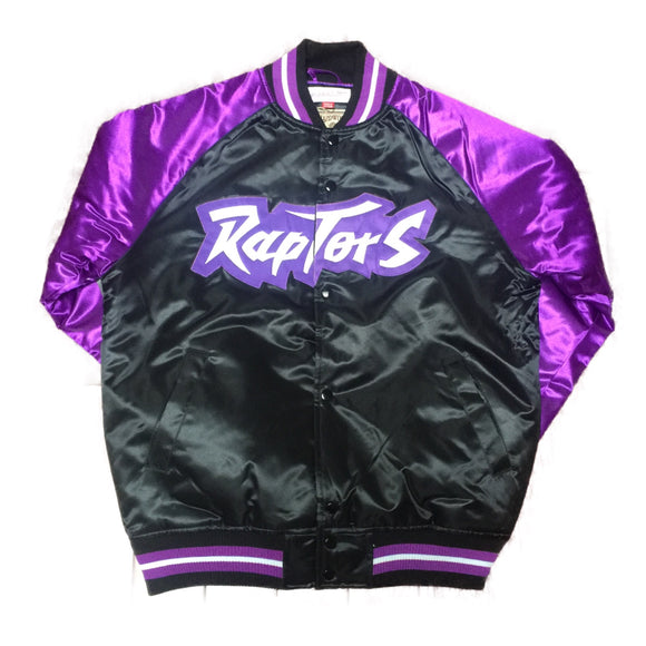 Men's Toronto Raptors Mitchell & Ness NBA Men's Tough Season Satin Retro Jacket - Bleacher Bum Collectibles, Toronto Blue Jays, NHL , MLB, Toronto Maple Leafs, Hat, Cap, Jersey, Hoodie, T Shirt, NFL, NBA, Toronto Raptors