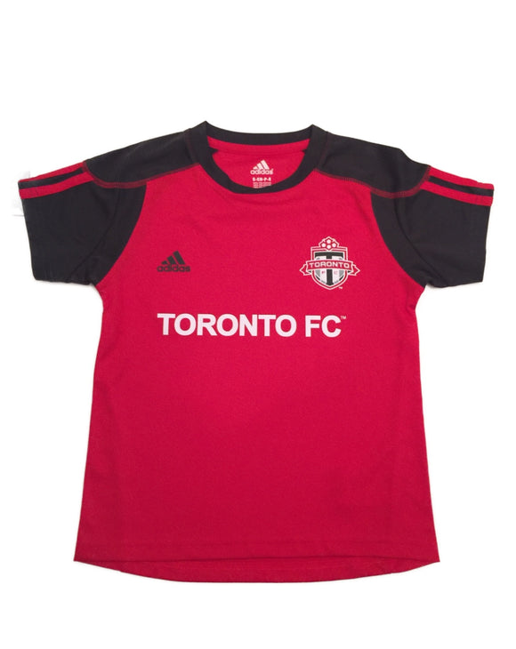 Toronto FC adidas Red MLS Soccer Kids Call Up  Replica Team Jersey - Multiple Sizes - Bleacher Bum Collectibles, Toronto Blue Jays, NHL , MLB, Toronto Maple Leafs, Hat, Cap, Jersey, Hoodie, T Shirt, NFL, NBA, Toronto Raptors
