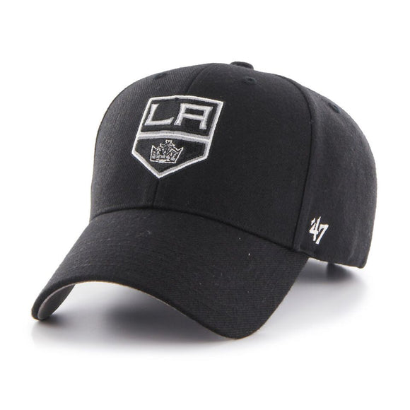 Los Angeles Kings '47 NHL MVP Structured Adjustable Strap One Size Fits Most Black Hat Cap - Bleacher Bum Collectibles, Toronto Blue Jays, NHL , MLB, Toronto Maple Leafs, Hat, Cap, Jersey, Hoodie, T Shirt, NFL, NBA, Toronto Raptors