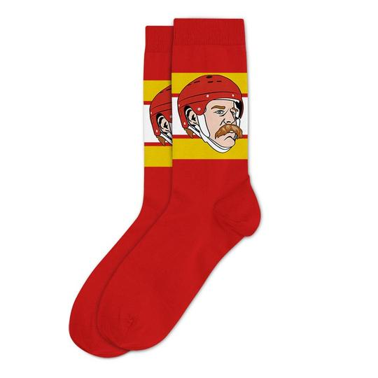 Lanny McDonald Calgary Flames Sockey Hall Of Fame Original Socks One Size - Bleacher Bum Collectibles, Toronto Blue Jays, NHL , MLB, Toronto Maple Leafs, Hat, Cap, Jersey, Hoodie, T Shirt, NFL, NBA, Toronto Raptors