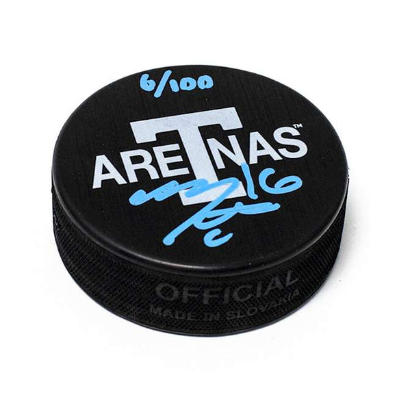 Mitch Marner Toronto Arenas Signed Maple Leafs Next Century Game Puck #/100 - Bleacher Bum Collectibles, Toronto Blue Jays, NHL , MLB, Toronto Maple Leafs, Hat, Cap, Jersey, Hoodie, T Shirt, NFL, NBA, Toronto Raptors