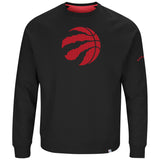 Men's Toronto Raptors Full Sleeve Crew Neck Team Back Up Sweatshirt by Majestic - Bleacher Bum Collectibles, Toronto Blue Jays, NHL , MLB, Toronto Maple Leafs, Hat, Cap, Jersey, Hoodie, T Shirt, NFL, NBA, Toronto Raptors