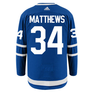 Men's Toronto Maple Leafs Auston Matthews adidas Blue Authentic Player Hockey Jersey- With Alternate Captaincy A