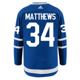 Men's Toronto Maple Leafs Auston Matthews adidas Blue Authentic Player Hockey Jersey- With Alternate Captaincy A - Bleacher Bum Collectibles, Toronto Blue Jays, NHL , MLB, Toronto Maple Leafs, Hat, Cap, Jersey, Hoodie, T Shirt, NFL, NBA, Toronto Raptors