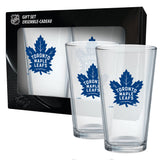 Toronto Maple Leafs Mixing Glass Set of Two 16oz Full Logo in Gift Box - Bleacher Bum Collectibles, Toronto Blue Jays, NHL , MLB, Toronto Maple Leafs, Hat, Cap, Jersey, Hoodie, T Shirt, NFL, NBA, Toronto Raptors