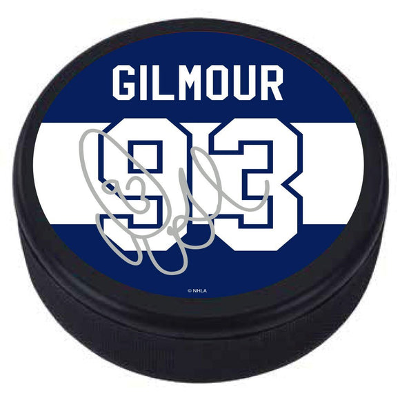 Toronto Maple Leafs Doug Gilmour Replica Players Commemorative Hockey Puck - Bleacher Bum Collectibles, Toronto Blue Jays, NHL , MLB, Toronto Maple Leafs, Hat, Cap, Jersey, Hoodie, T Shirt, NFL, NBA, Toronto Raptors