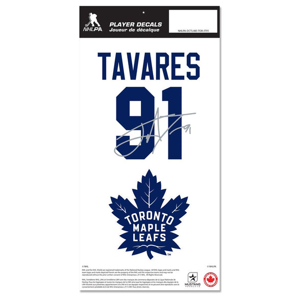 Toronto Maple Leafs John Tavares Name & Number Decal Sticker Set - Bleacher Bum Collectibles, Toronto Blue Jays, NHL , MLB, Toronto Maple Leafs, Hat, Cap, Jersey, Hoodie, T Shirt, NFL, NBA, Toronto Raptors