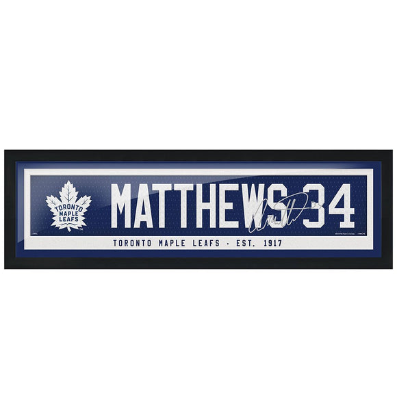 Toronto Maple Leafs Auston Matthews Name & Number 6