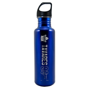 NHLPA Toronto Maple Leafs 26oz. Lasered Stainless Steel Water Bottle - Tavares - Bleacher Bum Collectibles, Toronto Blue Jays, NHL , MLB, Toronto Maple Leafs, Hat, Cap, Jersey, Hoodie, T Shirt, NFL, NBA, Toronto Raptors