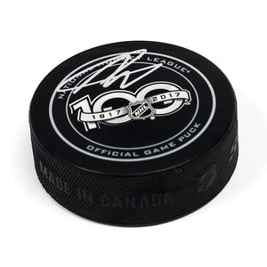 Nolan Patrick NHL Centennial Season Autographed Official Game Hockey Puck