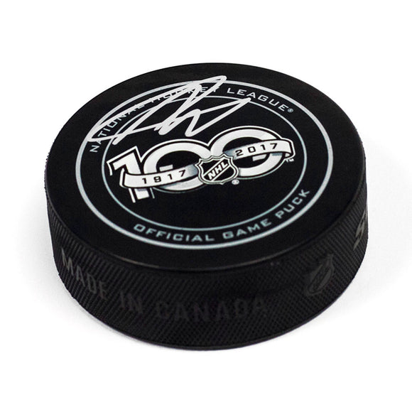 Nolan Patrick NHL Centennial Season Autographed Official Game Hockey Puck - Bleacher Bum Collectibles, Toronto Blue Jays, NHL , MLB, Toronto Maple Leafs, Hat, Cap, Jersey, Hoodie, T Shirt, NFL, NBA, Toronto Raptors