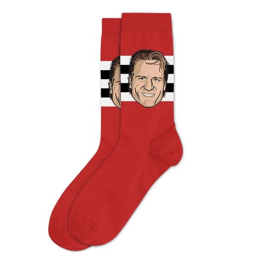 Jeremy Roenick Chicago Blackhawks Sockey Hall Of Fame Original Socks One Size - Bleacher Bum Collectibles, Toronto Blue Jays, NHL , MLB, Toronto Maple Leafs, Hat, Cap, Jersey, Hoodie, T Shirt, NFL, NBA, Toronto Raptors