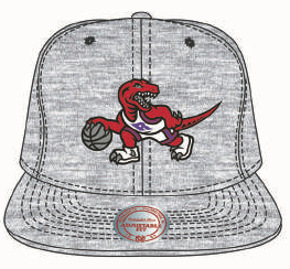 Toronto Raptors Team Heather Grey Hat Retro Logo NBA Basketball Mitchell & Ness Snapback Cap - Bleacher Bum Collectibles, Toronto Blue Jays, NHL , MLB, Toronto Maple Leafs, Hat, Cap, Jersey, Hoodie, T Shirt, NFL, NBA, Toronto Raptors