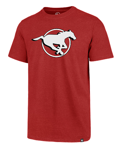 Men's Calgary Stampeders Imprint Primary Big Logo CFL Football T Shirt - Multiple Sizes