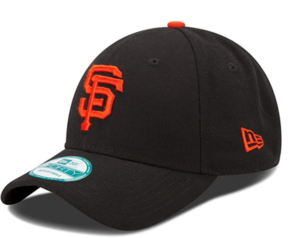 San Francisco Giants New Era Men's League 9Forty MLB Baseball Adjustable Hat - Black