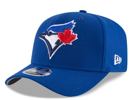 Toronto Blue Jays New Era MLB Team Stretch-Snap 9FIFTY Curved Snapback Hat