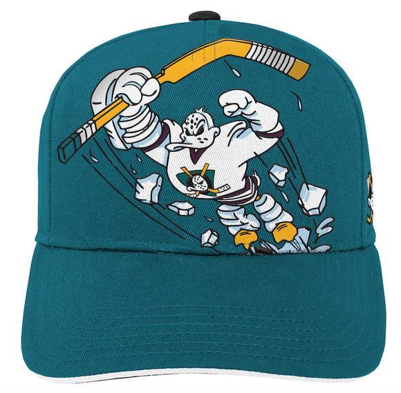 Youth Anaheim Ducks NHL Hockey Green Special Edition Structured Adjustable Hat
