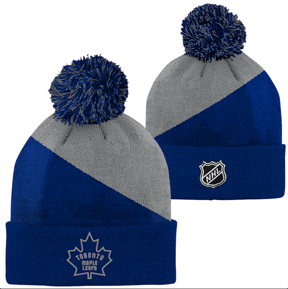 Youth Toronto Maple Leafs NHL Hockey Royal Special Edition Cuffed Pom Knit Toque Hat