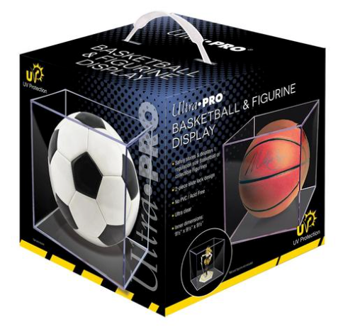 Ultra Pro Basketball, Soccer And Or Figure Display Case Holder with UV Protection