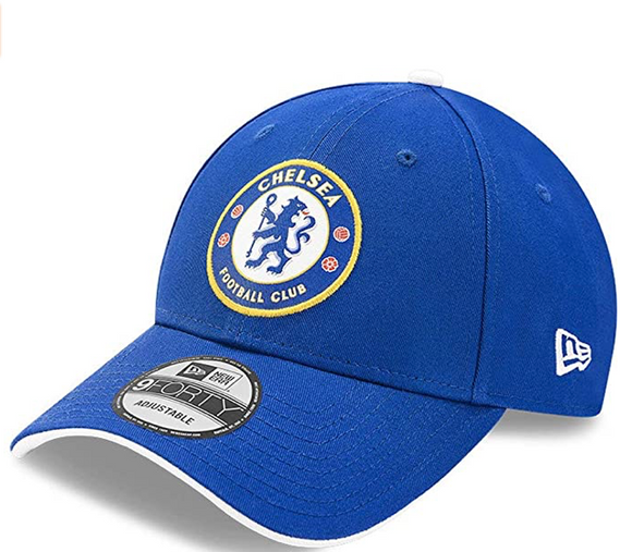 Team Chelsea Soccer Club New Era 9Forty Blue White Adjustable Strap Hat