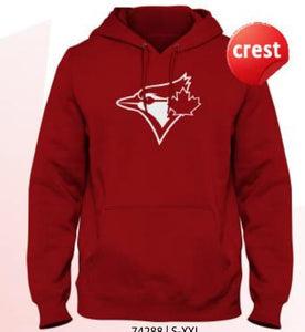 Men's Toronto Blue Jays Red All Over Crested Logo Hooded Sweatshirt - Bleacher Bum Collectibles, Toronto Blue Jays, NHL , MLB, Toronto Maple Leafs, Hat, Cap, Jersey, Hoodie, T Shirt, NFL, NBA, Toronto Raptors