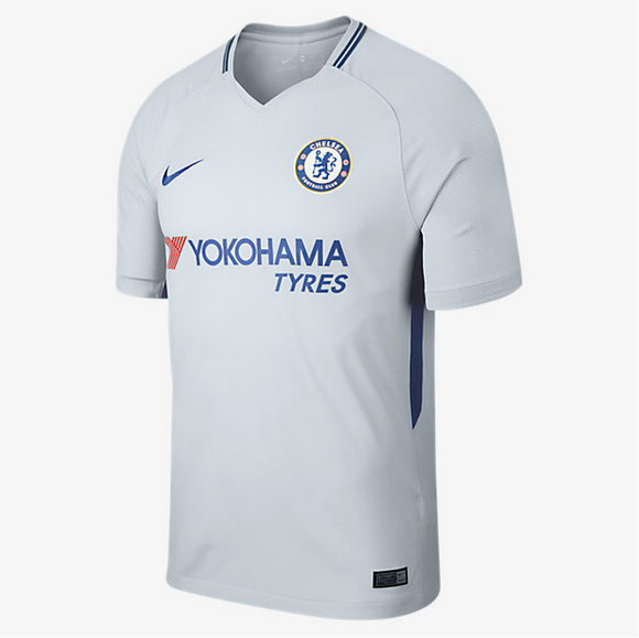 Men's 2017/18 Team Chelsea Football Club Away Grey Stadium Jersey - Bleacher Bum Collectibles, Toronto Blue Jays, NHL , MLB, Toronto Maple Leafs, Hat, Cap, Jersey, Hoodie, T Shirt, NFL, NBA, Toronto Raptors