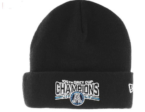 Toronto Argonauts New Era CFL 105th Grey Cup Champions Cuffed Toque Beanie