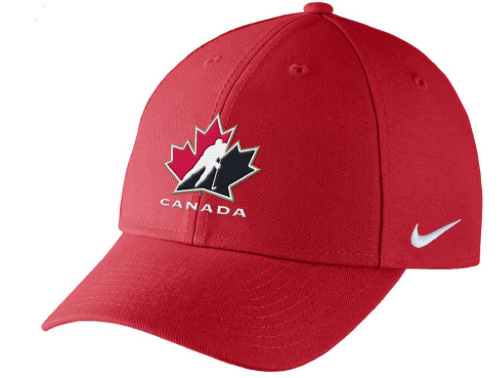 2018 Team Canada Hockey Nike IIHF WJC Champ Dri-Fit Swooshflex Cap Hat - Bleacher Bum Collectibles, Toronto Blue Jays, NHL , MLB, Toronto Maple Leafs, Hat, Cap, Jersey, Hoodie, T Shirt, NFL, NBA, Toronto Raptors