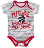 Toronto Raptors Red/Black/White Three-Pack Bodysuit Set - Multiple Infant Sizes - Bleacher Bum Collectibles, Toronto Blue Jays, NHL , MLB, Toronto Maple Leafs, Hat, Cap, Jersey, Hoodie, T Shirt, NFL, NBA, Toronto Raptors
