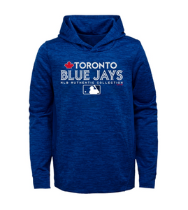 low priced 85f22 45f44 Toronto Blue Jays Women's Majestic Royal Authentic Collection Team Drive  Ultra-Streak Fleece Pullover Hoodie