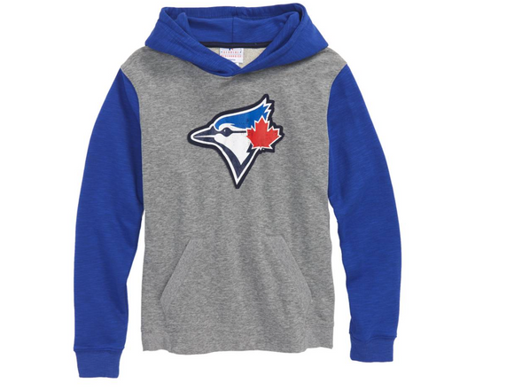 Toronto Blue Jays Youth Pullover Grey Blue New Beginnings Hoodie Sweatshirt - Bleacher Bum Collectibles, Toronto Blue Jays, NHL , MLB, Toronto Maple Leafs, Hat, Cap, Jersey, Hoodie, T Shirt, NFL, NBA, Toronto Raptors