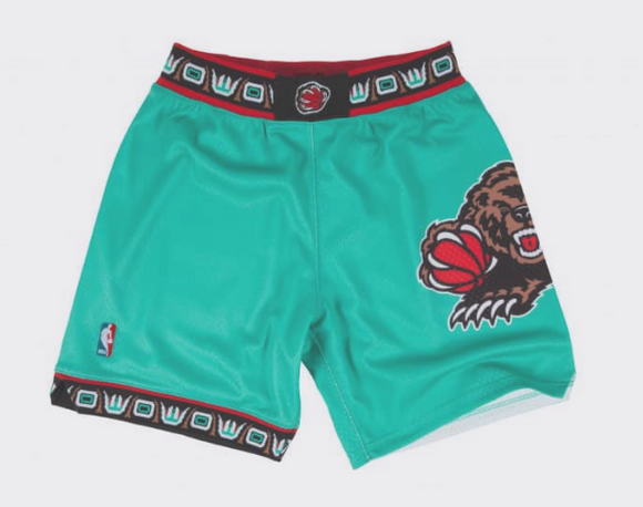 Men's Vancouver Grizzlies Mitchell & Ness Teal Hardwood Classics Swingman Shorts - Bleacher Bum Collectibles, Toronto Blue Jays, NHL , MLB, Toronto Maple Leafs, Hat, Cap, Jersey, Hoodie, T Shirt, NFL, NBA, Toronto Raptors