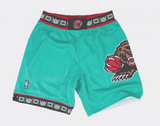 Men's Mitchell & Ness Vancouver Grizzlies 1995-1996 Throwback Authentic Pro Shorts - Bleacher Bum Collectibles, Toronto Blue Jays, NHL , MLB, Toronto Maple Leafs, Hat, Cap, Jersey, Hoodie, T Shirt, NFL, NBA, Toronto Raptors
