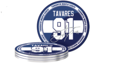 Toronto Maple Leafs John Tavares Name & Number Pack of 4 Player Coasters - Bleacher Bum Collectibles, Toronto Blue Jays, NHL , MLB, Toronto Maple Leafs, Hat, Cap, Jersey, Hoodie, T Shirt, NFL, NBA, Toronto Raptors