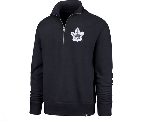 Men's Toronto Maple Leafs 1/4 Zip Sport Pullover Navy Blue Sweatshirt - Bleacher Bum Collectibles, Toronto Blue Jays, NHL , MLB, Toronto Maple Leafs, Hat, Cap, Jersey, Hoodie, T Shirt, NFL, NBA, Toronto Raptors