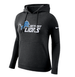 Women's Nike Black Detroit Lions Club Fleece Logo Pullover Hoodie - Bleacher Bum Collectibles, Toronto Blue Jays, NHL , MLB, Toronto Maple Leafs, Hat, Cap, Jersey, Hoodie, T Shirt, NFL, NBA, Toronto Raptors